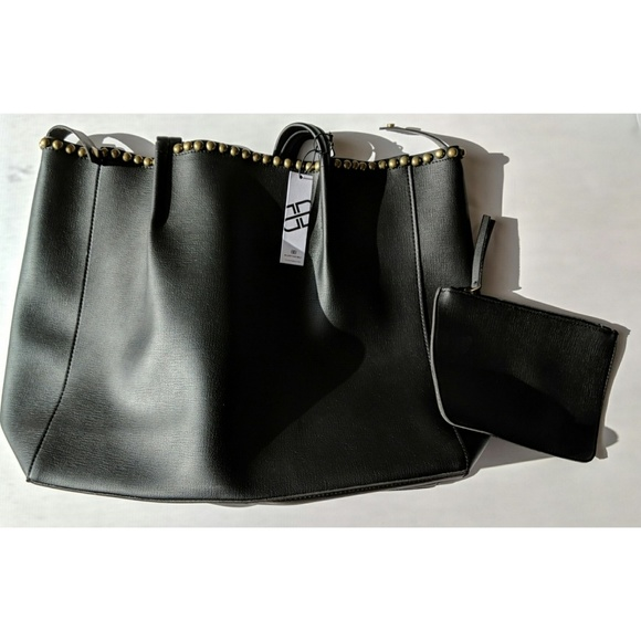 88a77cd95 B-Low the Belt Bags | Blow The Belt Black Studded Tote Size Os Nwt ...